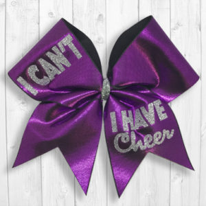 I Can't I Have Cheer bow