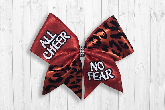 All Cheer No Fear Bow