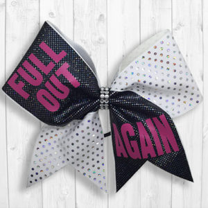 Full Out Again cheer bow