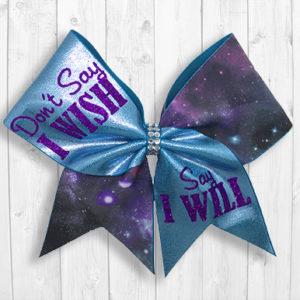 Wish/Will cheer bow
