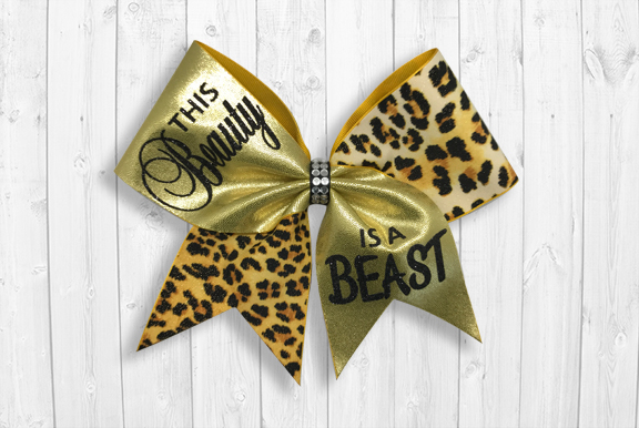 Beauty Beast cheer bow