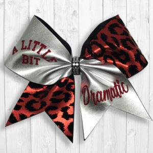 a little bit dramatic cheer bow