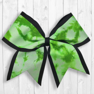 Green Tie Dye cheer bow