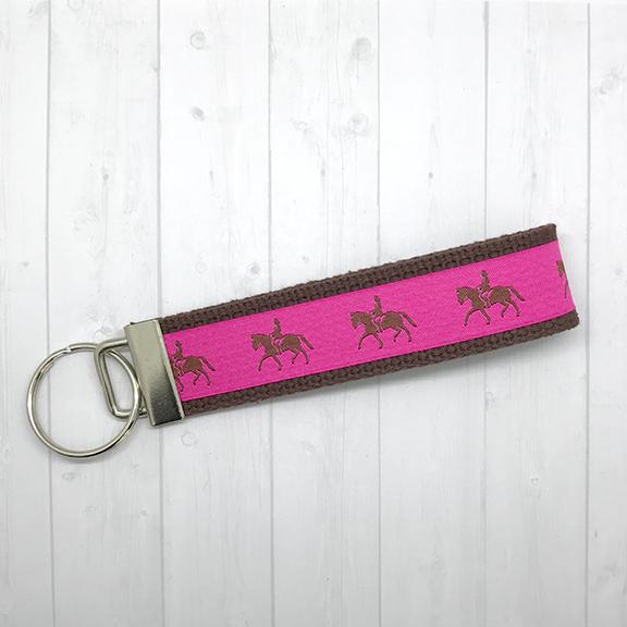 Preppy horses keychain
