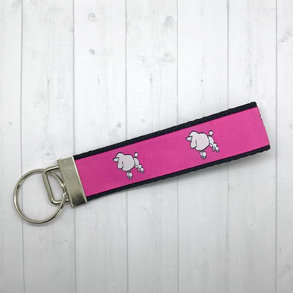 Preppy poodle keychain