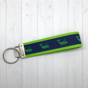 Green whales keychain