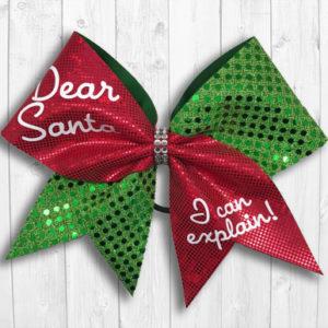 Santa cheer bow