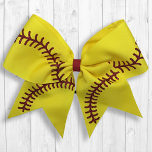 Fast Pitch Softball cheer bow