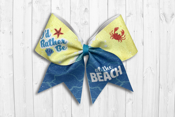 I'd Rather Be at the Beach Cheer Bow
