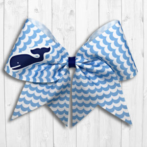 Happy whale and waves cheer bow