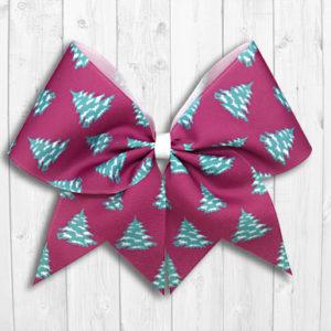 Christmas trees cheer bow