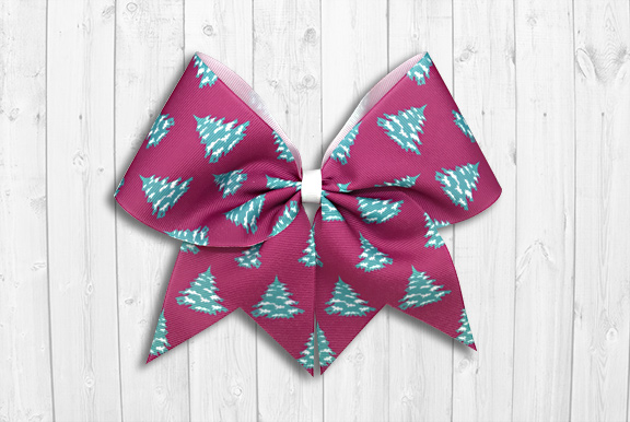 Christmas trees cheer bow