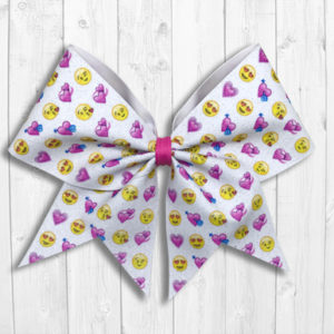 Love Emojis Valentine's Day Cheer Bow