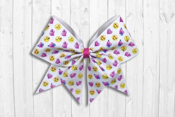 Love Emojis Valentine's Day Cheer Bow