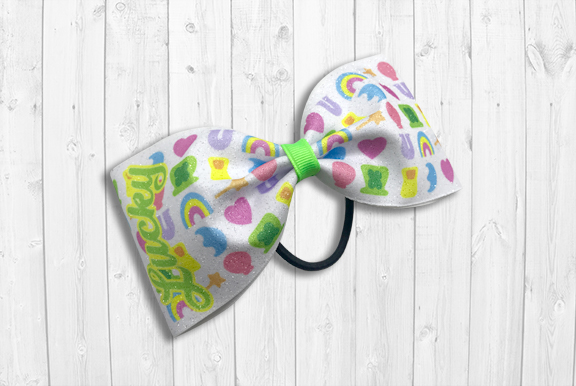 Lucky Charms Tailless Cheer Bow