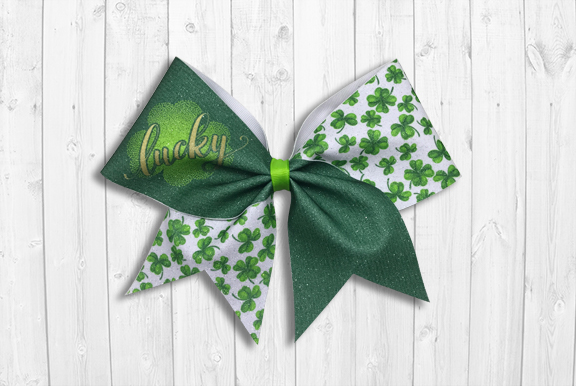 Lucky St. Patrick's Day Cheer Bow