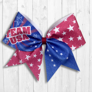 Team USA Cheer Bow