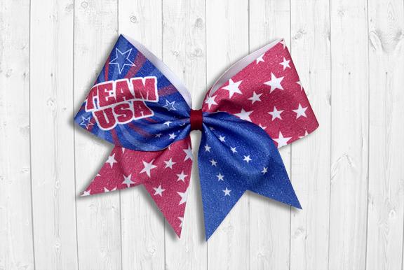 Team USA Cheer Bow