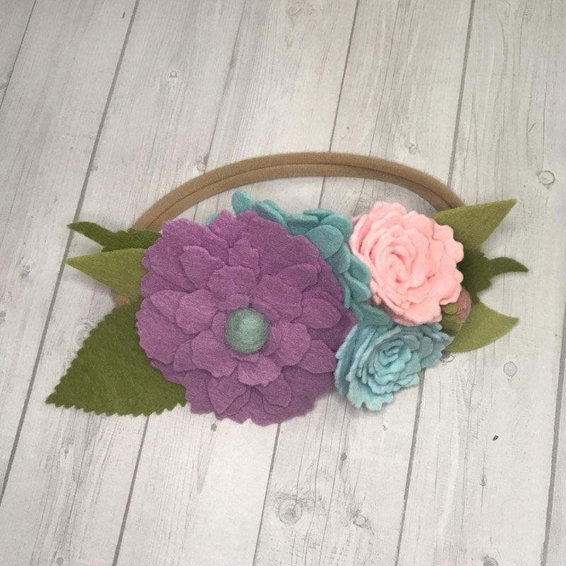 Lucky Girl Cheer Bows - Felt Flower Headband