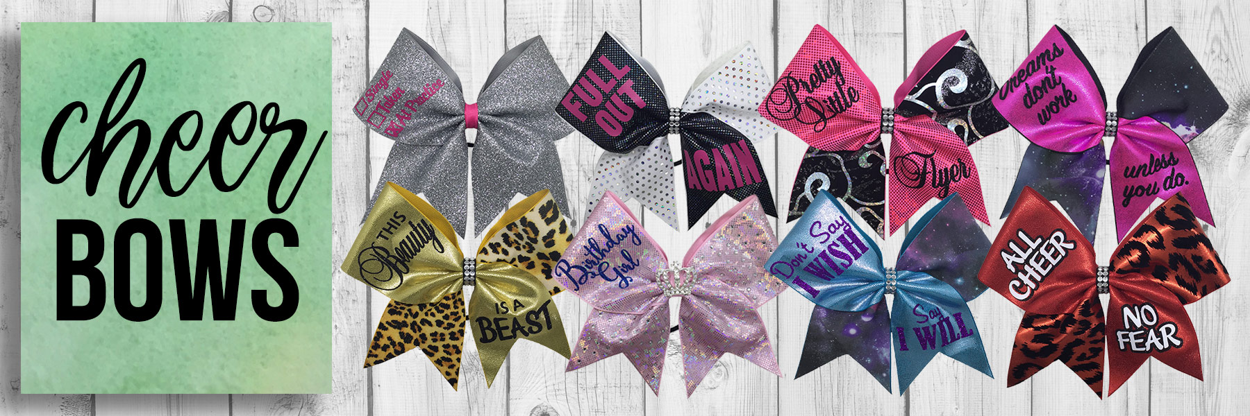 Lucky Girl Cheer Bows