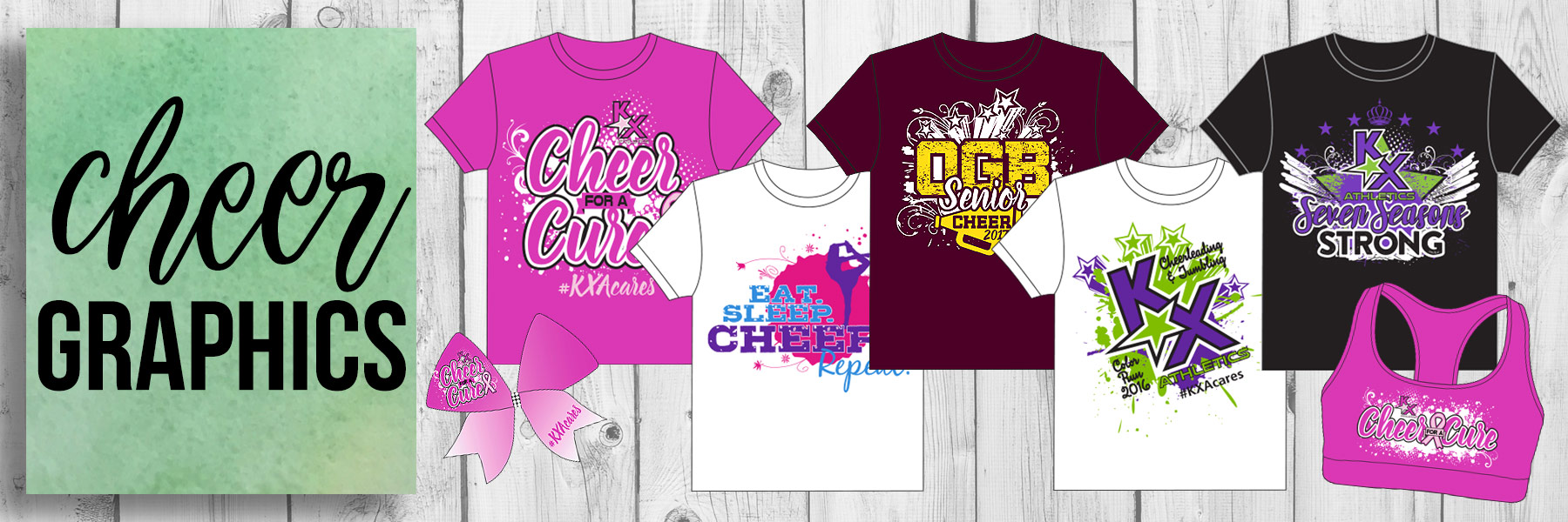 Lucky Girl Cheer Bows - Cheer Graphics