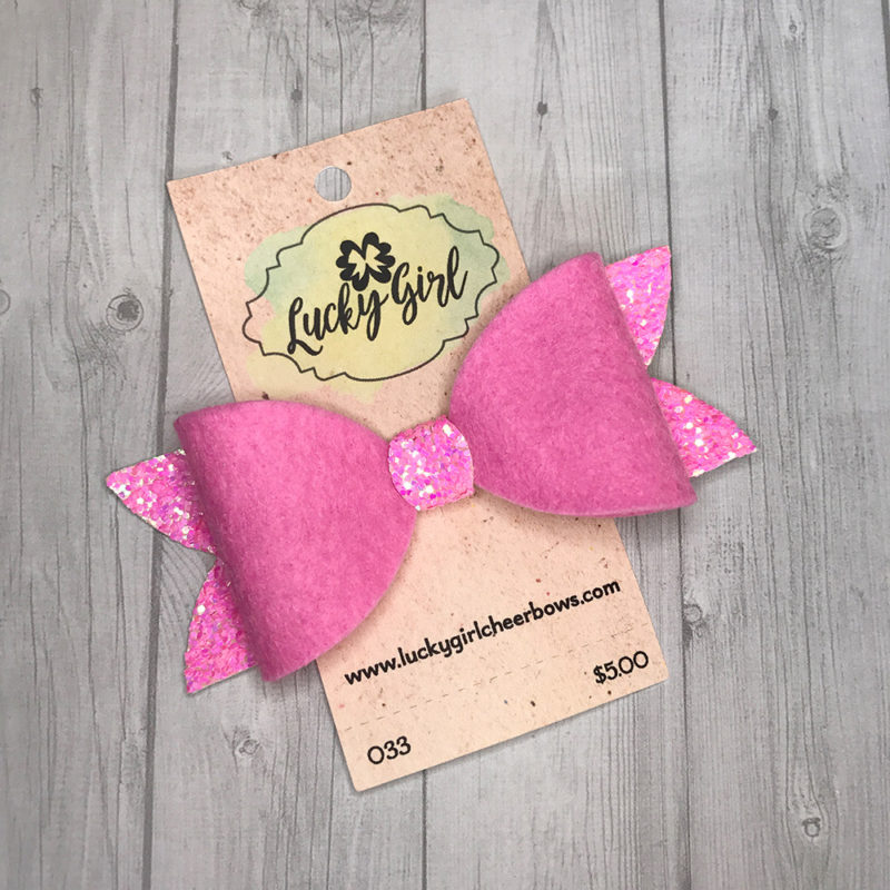 Modern bow with glitter and felt