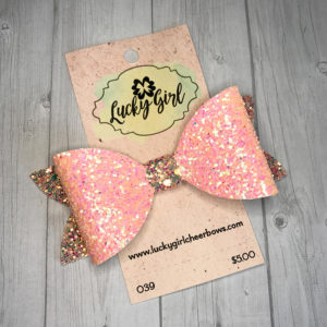 Modern bow with glitter canvas
