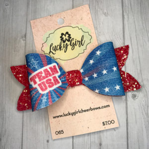 Modern bow with glitter graphics
