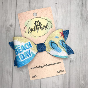 Modern bow with glitter Beach Day graphics