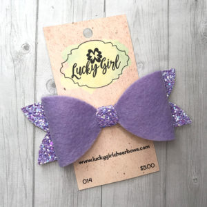 Modern bow with glitter and wool