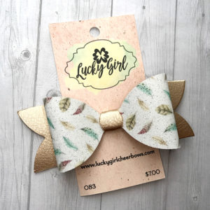 Modern bow with glittery graphics