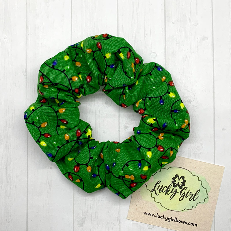 Christmas Lights Scrunchie