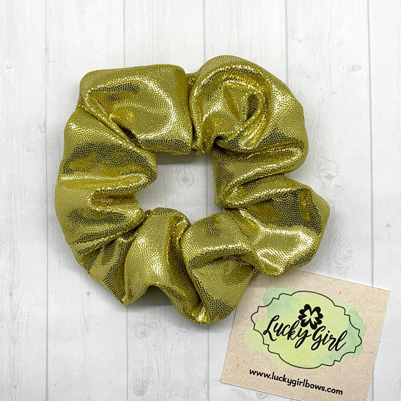 Gold Metallic Scrunchie