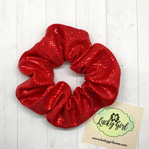 Red Metallic Scrunchie