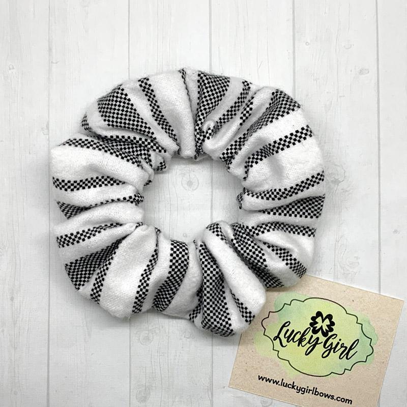 Striped Flannel Scrunchie