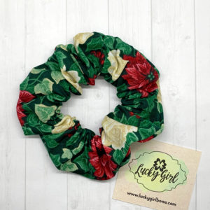 Poinsettia and Ivy Scrunchie