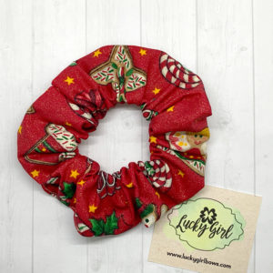 Christmas Gingerbread Scrunchie